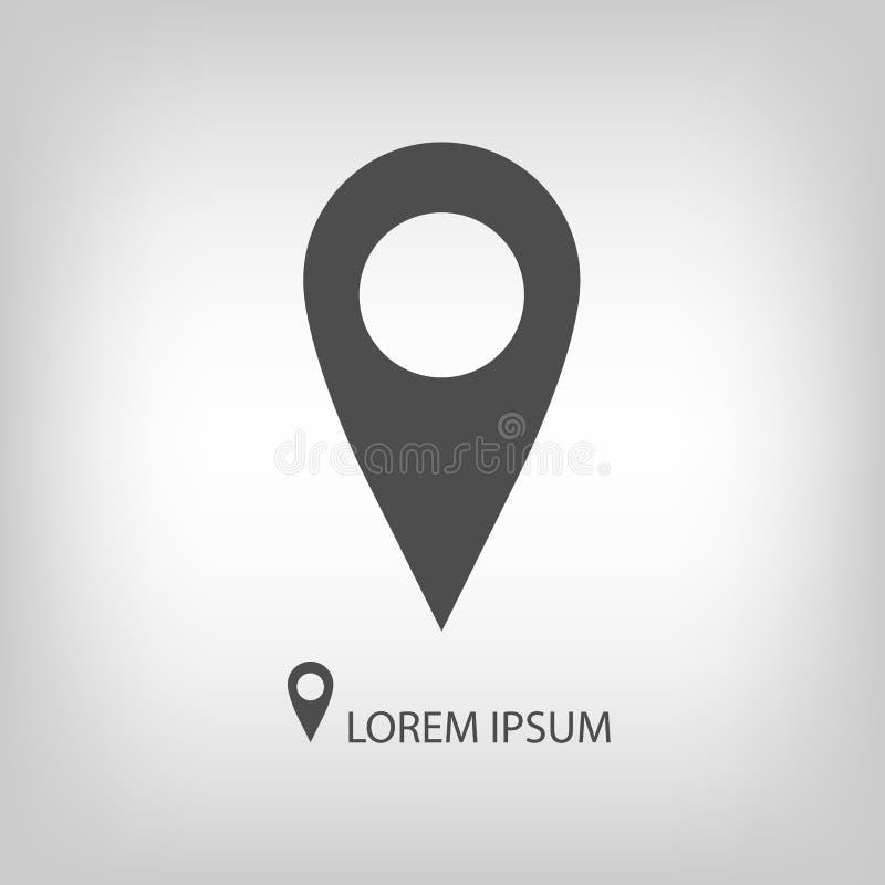 Free Grey Geo Pin As Logo Stock Image - 48868751