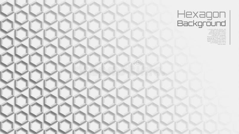 16:9 Grey Geometric Star Hexagon Background leggero illustrazione di stock