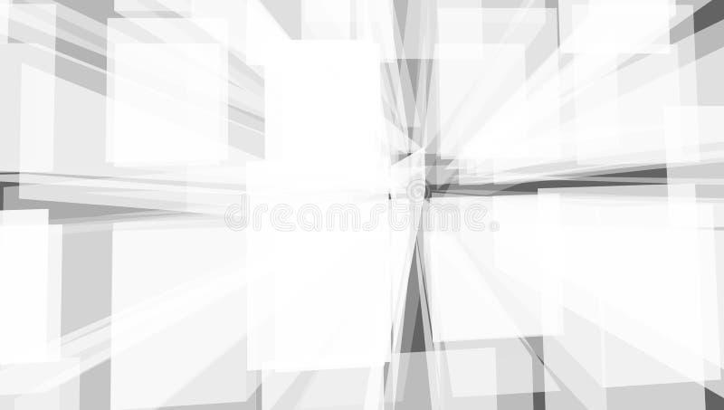 Grey Geometric Technology Background With-Stadtform stock abbildung