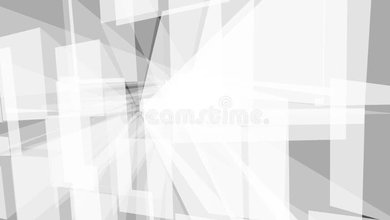 Grey Geometric Technology Background With-Stadtform lizenzfreie abbildung