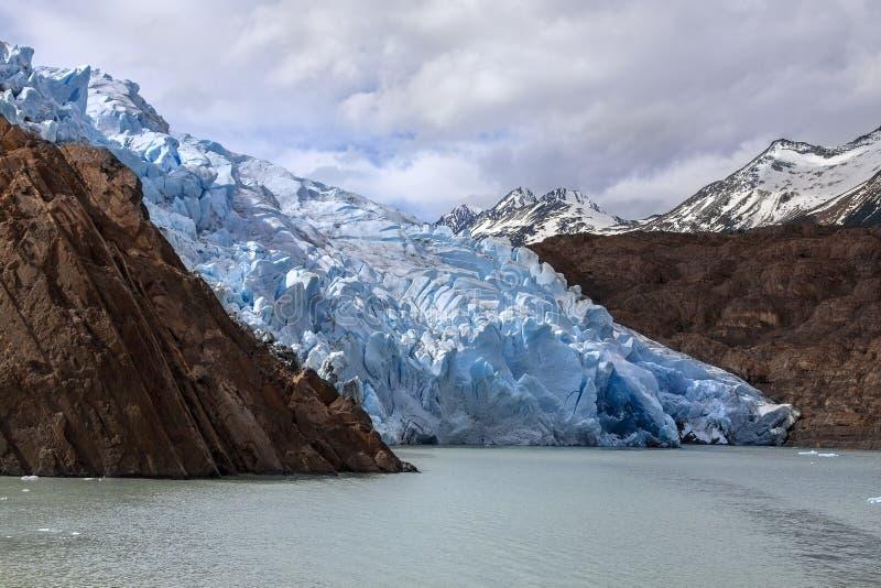Grey Glacier - Patagonia - Chile fotografering för bildbyråer