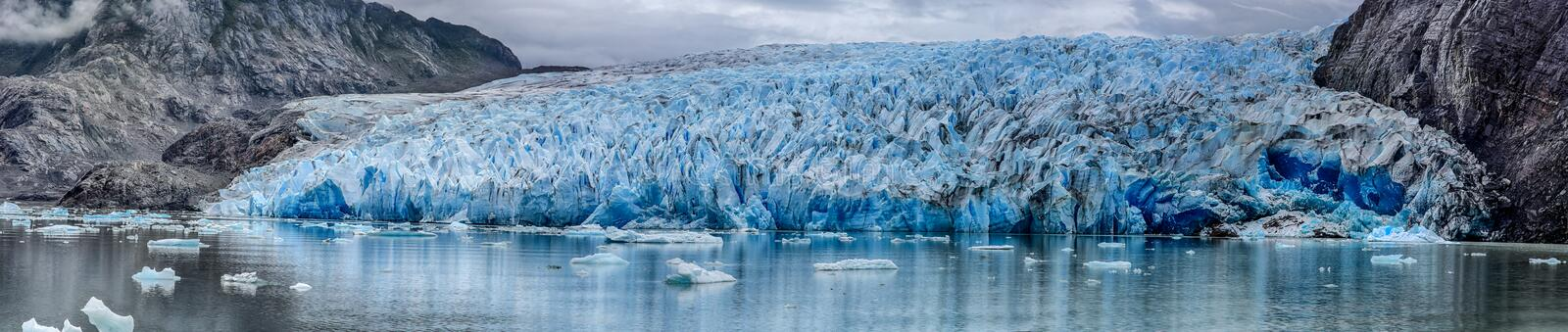 Grey Glacier at Torres del Paine N.P. Patagonia, Chile stock photo