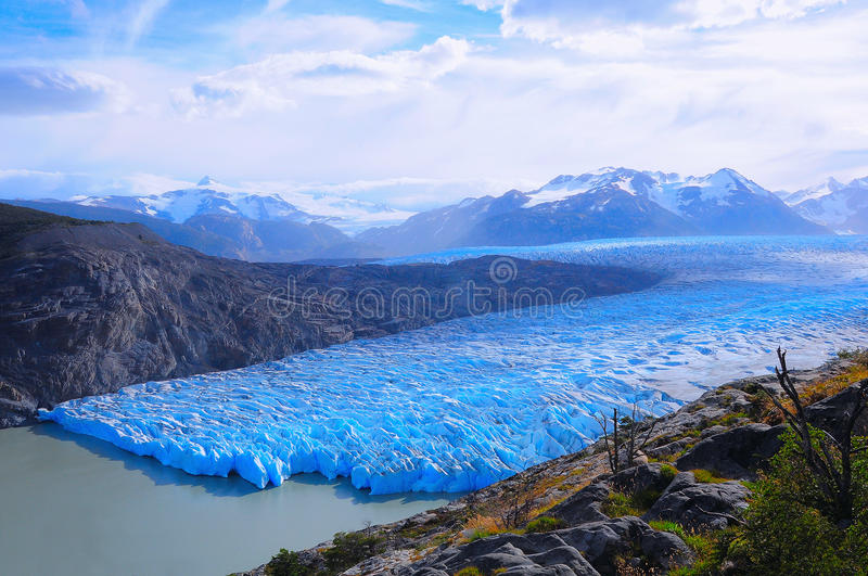 Grey glacier. Torres del Paine National park. Chile royalty free stock photos