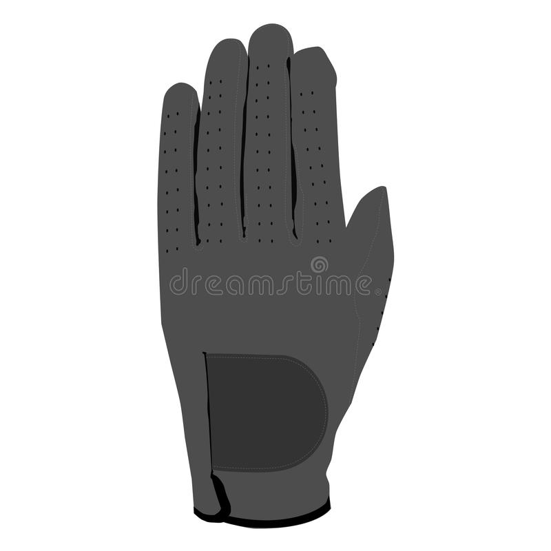Grey glove. For golf, sport glove, glove isolated, motorcycle glove vector illustration