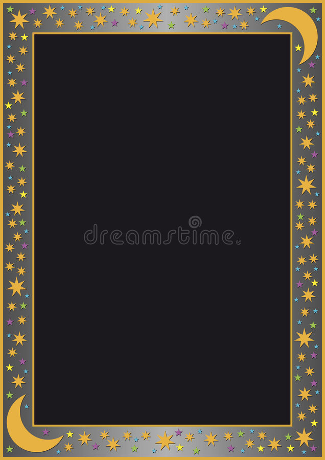 Download Grey Gradient Border With Many Stars Stock Vector - Illustration of design, print: 9089568