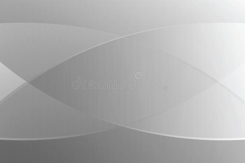 Grey gradient color soft light and line graphic for cosmetics banner advertising luxury modern background stock illustration