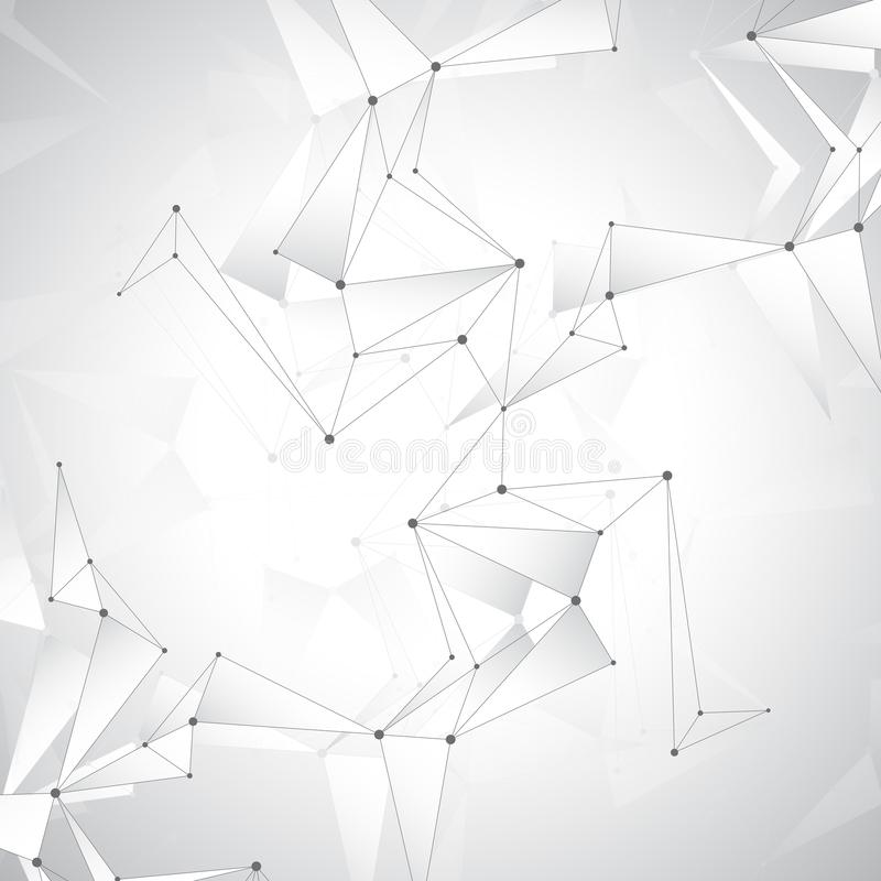 Grey graphic background dots with connections , illustration.  stock photos