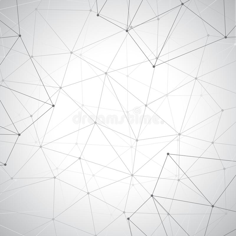 Grey graphic background dots with connections , illustration.  royalty free stock images