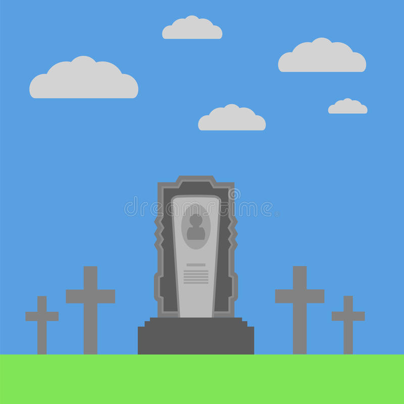 Grey Gravestone stock illustrationer
