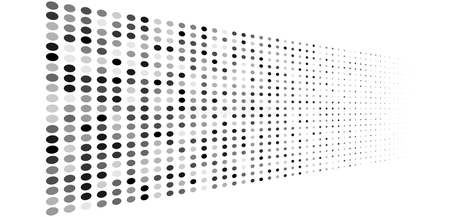 Grey, gray dots, half-tone element. Greyscale, grayscale speckle, stipple geometric pattern. greyscale circles halftone pattern. Polka dots, screntone design vector illustration