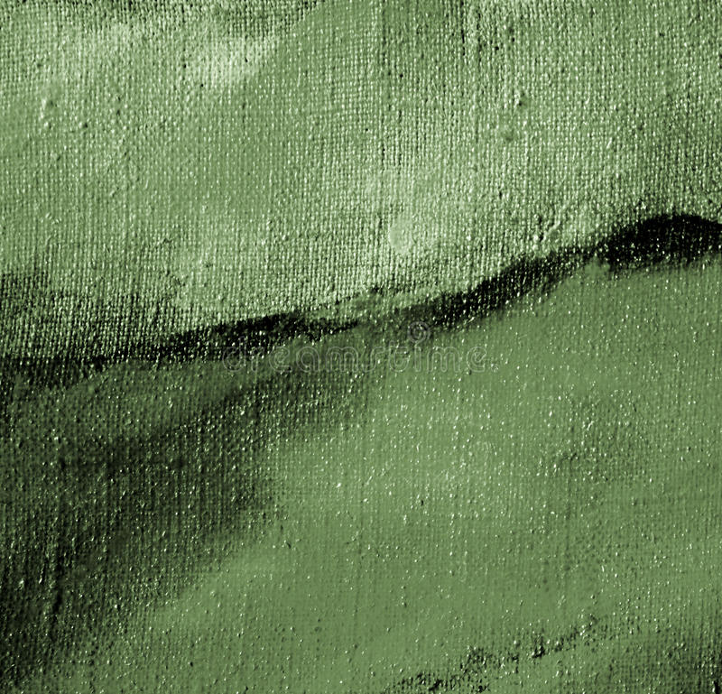 Grey green abstract painting on a canvas stock illustration