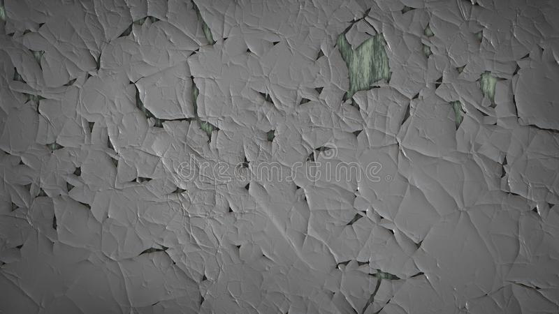 Grey Grunge Cracked Wall Texture escuro ilustração stock