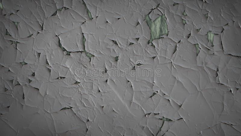Grey Grunge Cracked Wall Texture oscuro stock de ilustración