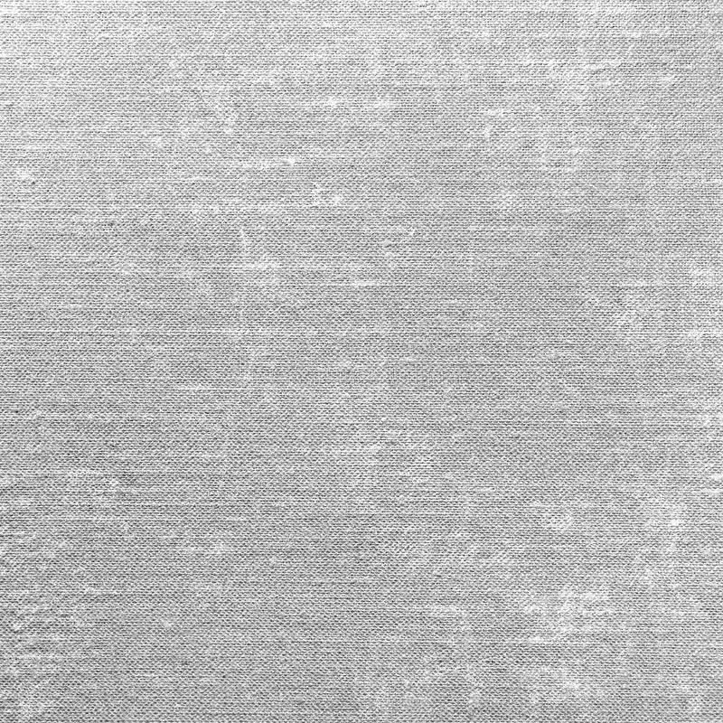 Grey Grunge Linen Texture, Gray Textured Burlap Fabric Background Pattern, Large Detailed Macro Closeup stock photo