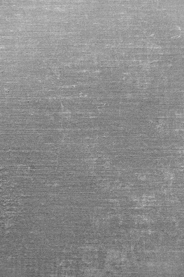 Grey Grunge Linen Texture, Gray Textured Burlap Fabric Background verticale, spazio vuoto in bianco della copia fotografie stock