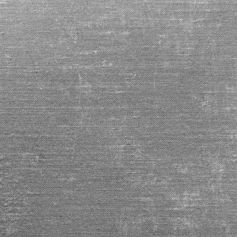 Grey Grunge Linen Texture Pattern Gray Textured Burlap Fabric Background makroCloseup, gammal åldrig linnelapp royaltyfri fotografi