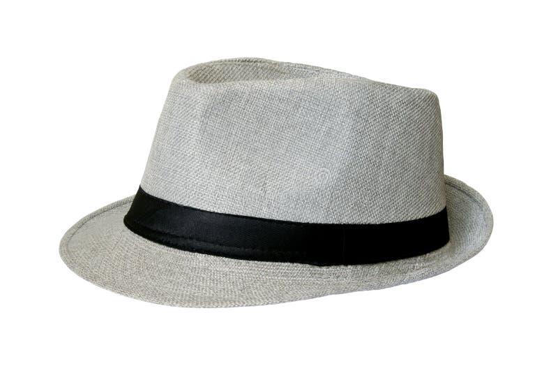Grey Hat Isolated p? vit bakgrund arkivbilder