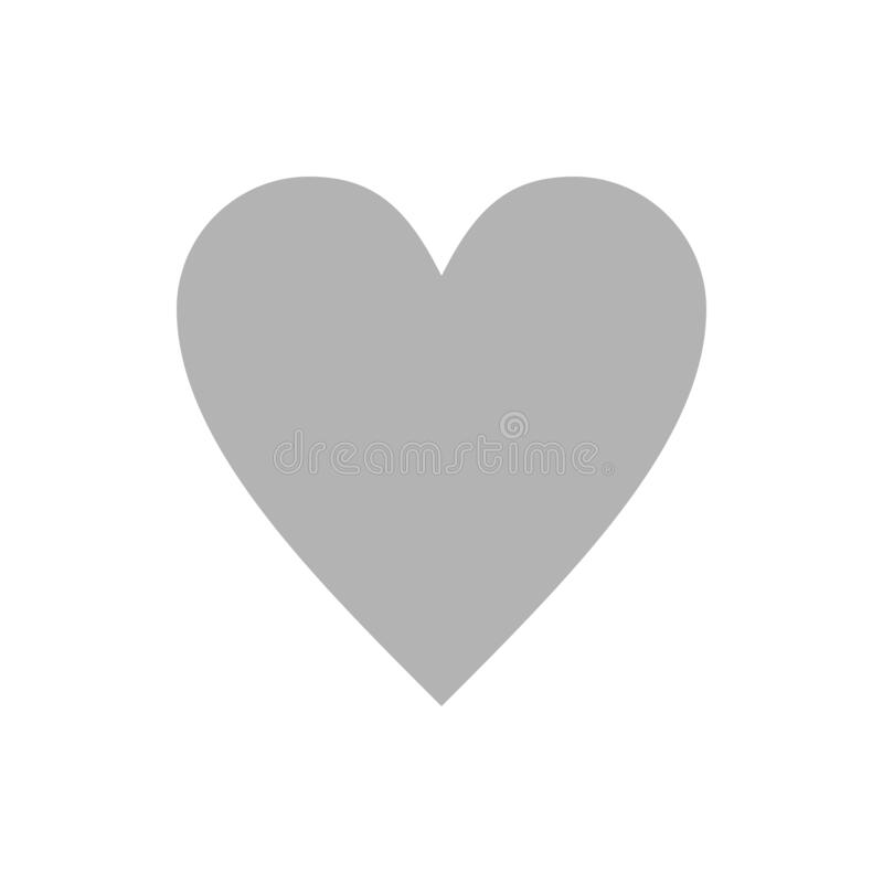Grey Heart.Abstract Heart Shape. Vector Illustration.Heart Icon in Flat  Style. the Heart As a Symbol of Love. Elegance. Stock Illustration -  Illustration of grunge, holiday: 178889205
