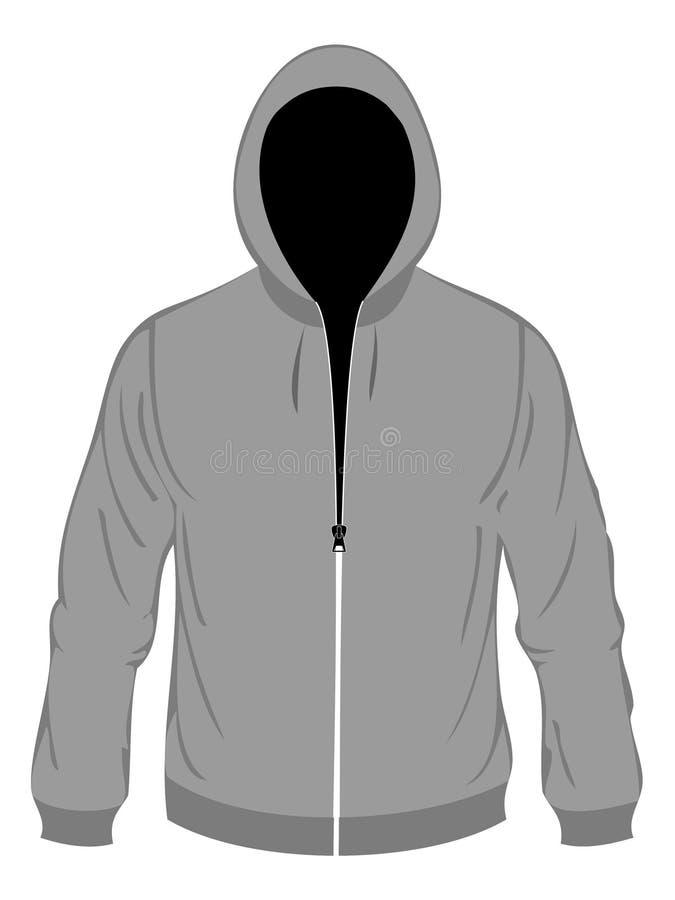 Grey hood stock illustration