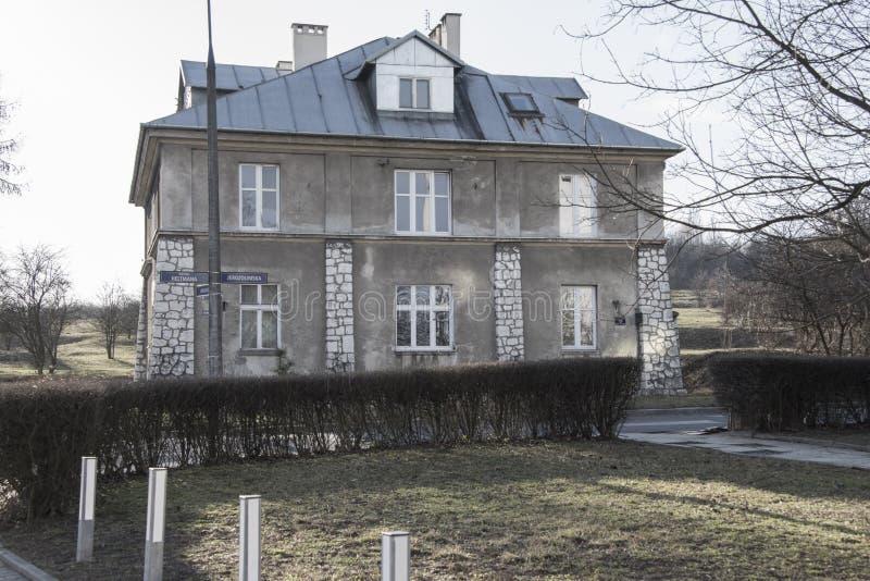 Grey House, campo de concentração de Plaszow, Krakow, Polônia fotos de stock royalty free