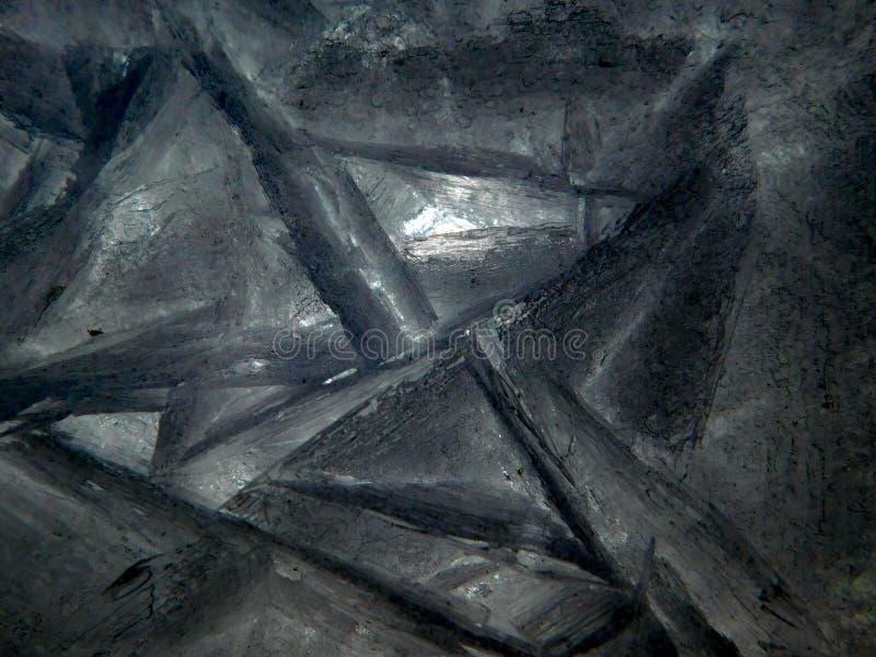 Grey Ice crystall, från det djupfrysta dammet royaltyfria foton