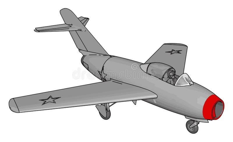 grey jet plane three stars red nose vector illustration grey jet plane three stars red nose vector illustration