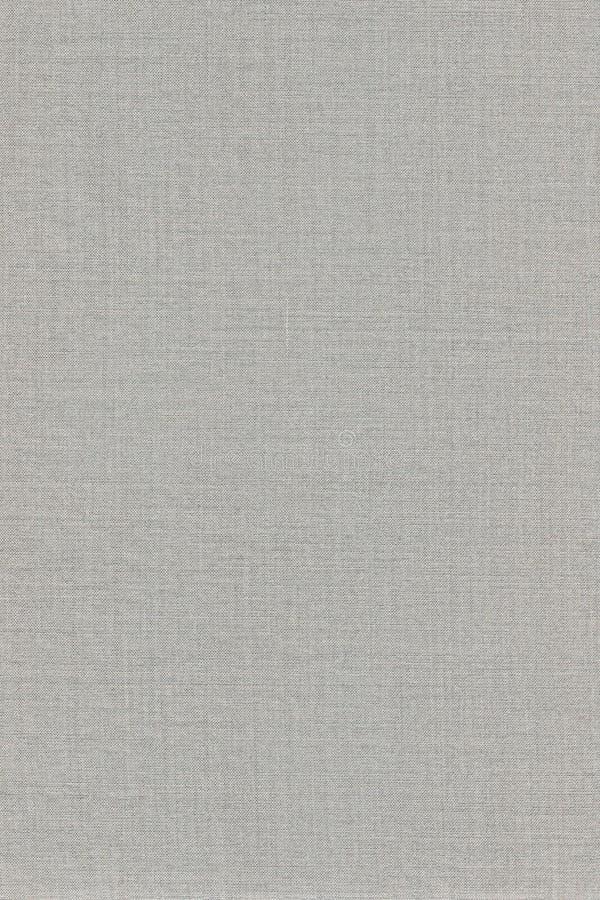 Grey Khaki Cotton Fabric Texture-Achtergrond, Gedetailleerde Macroclose-up, Grote Verticale Geweven Gray Linen Canvas Burlap Copy stock afbeeldingen