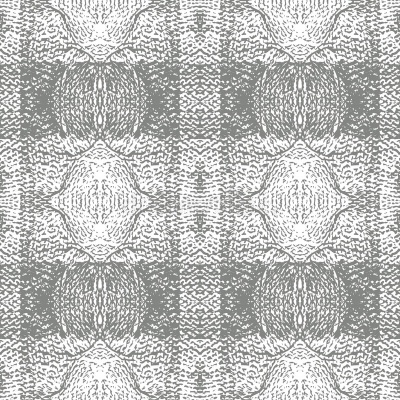 Grey Knitted Plaid Vector Pattern repetition royaltyfri fotografi