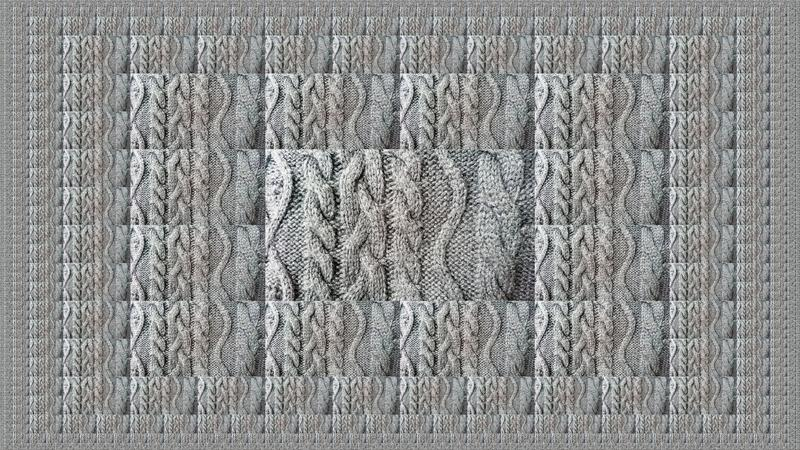 Grey Knitting Wool Closeup Abstract Background royalty free stock images
