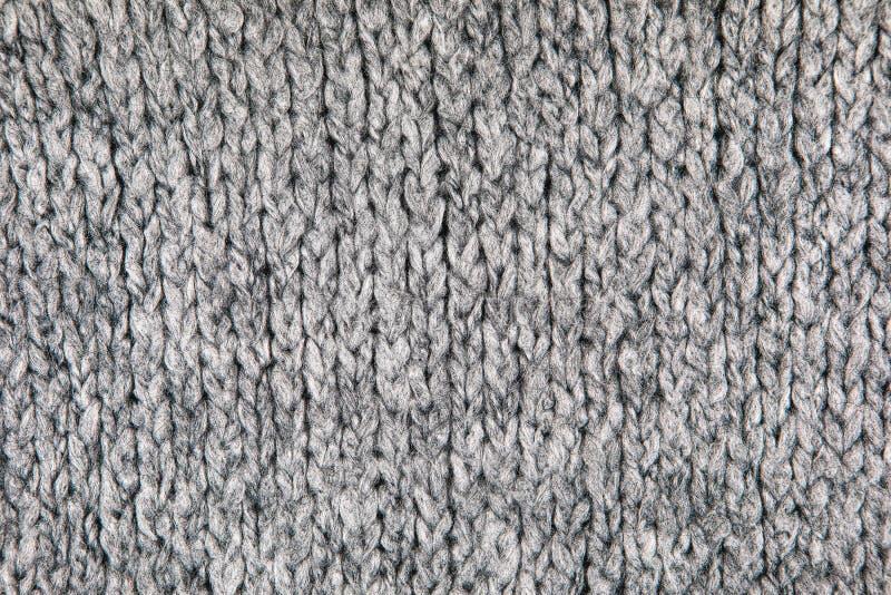 Grey Knitwear Fabric Texture stock foto's