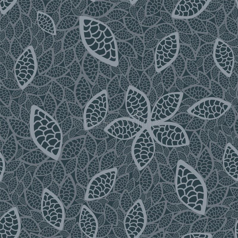 grey låter vara den seamless wallpaperen royaltyfri illustrationer