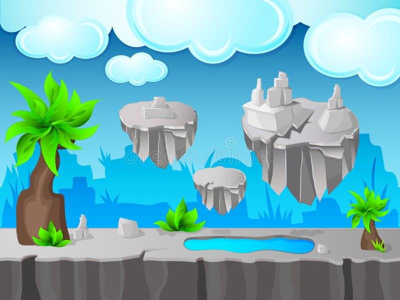 Grey Land Game Design royalty free illustration