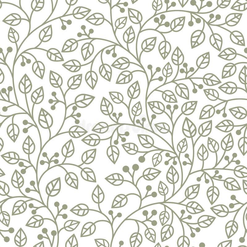 grey liść ornament ilustracji