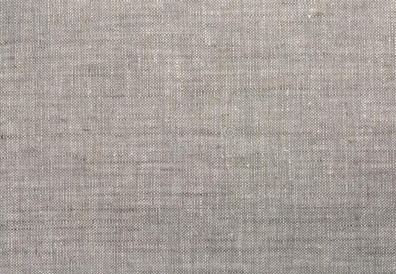 Grey linen fabric texture. Cloth background Close-up royalty free stock photography