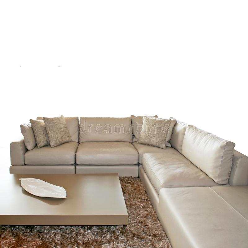 Grey living isolated stock image