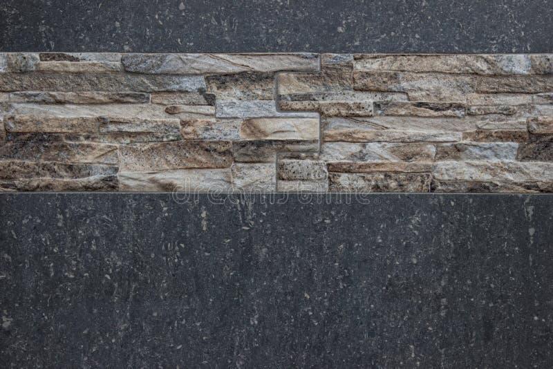 Grey Marble Wall With Tiles peut employer pour le fond photographie stock libre de droits