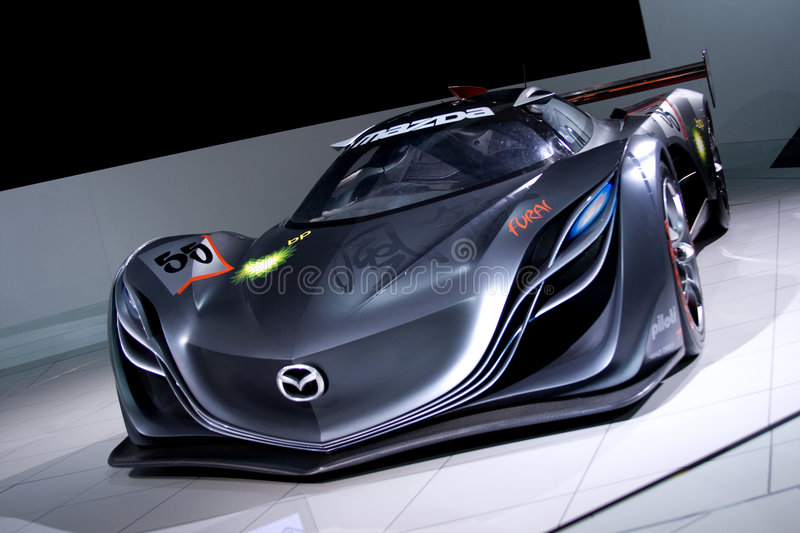 grey mazda furai concept car editorial stock image image. Black Bedroom Furniture Sets. Home Design Ideas