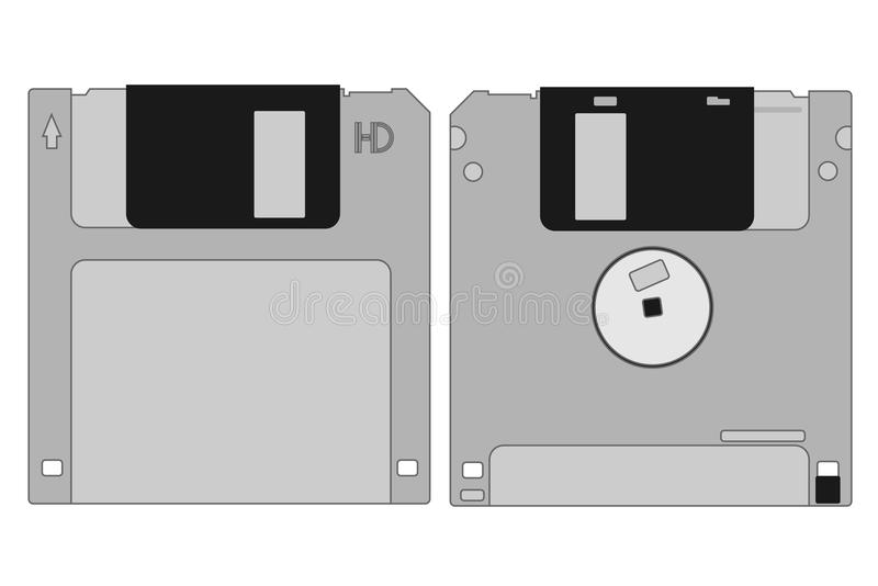 Grey Memory Disk Royalty Free Stock Photo
