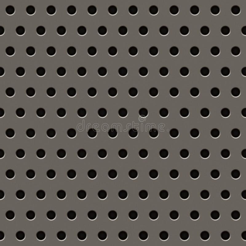 Grey Metal Grill Pattern illustrazione vettoriale