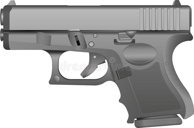 Grey Metal Handgun illustrazione di stock