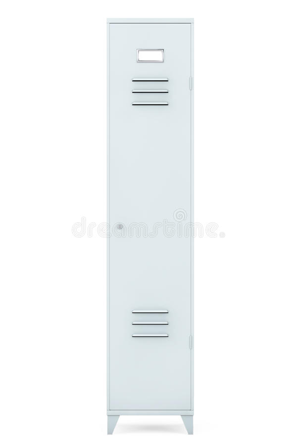 Grey Metal Locker stock abbildung