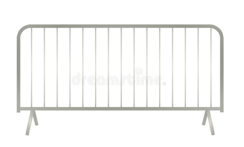 Grey metallic fence. Vector illustration stock illustration
