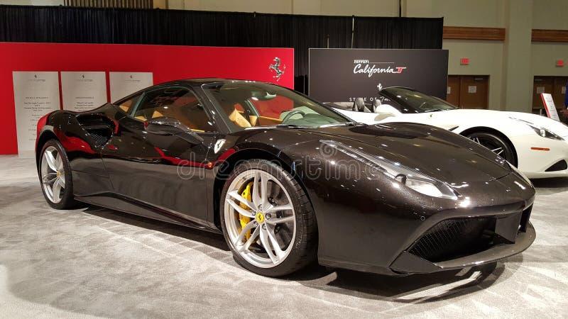 Grey Metallic Ferrari 458 lizenzfreie stockfotos