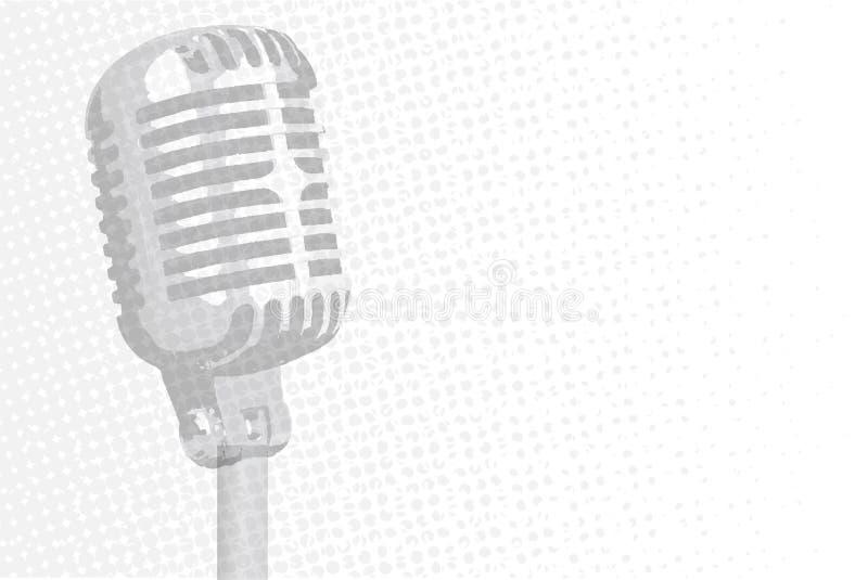 Grey Microphone Background illustrazione vettoriale