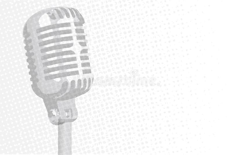 Grey Microphone Background illustrazione di stock