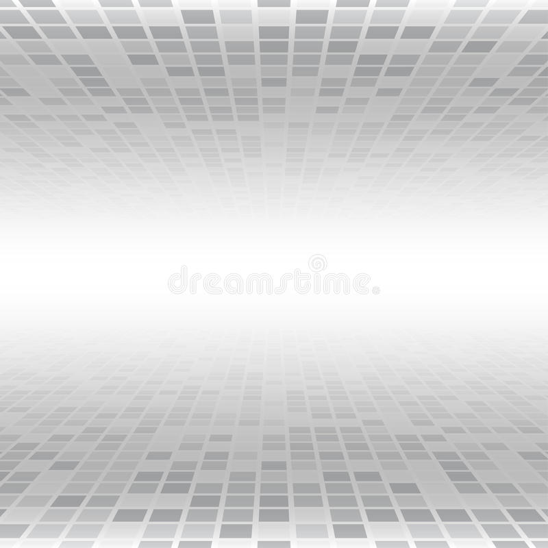 Grey Mosaic Tile Square Background perspective photo stock