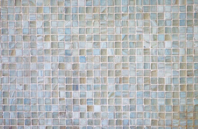 Grey mosaic tiles stock photo
