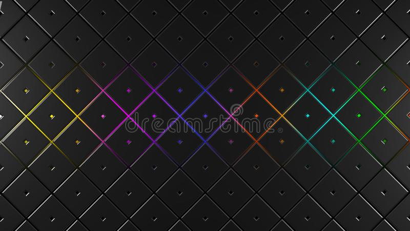 Grey and multicolor squares modern background 3d render illustration. Grey and multicolor squares modern background 3d render stock illustration