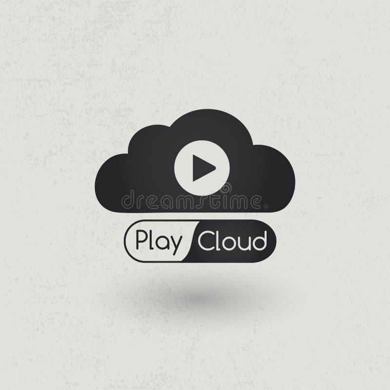 Multimedia cloud royalty free illustration