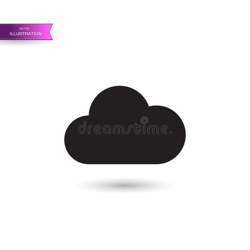 Grey Music som strömmar servicesymbolen som isoleras på vit bakgrund Solitt moln som beräknar, online-massmedia som strömmar, dir stock illustrationer
